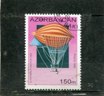 AZERBAIJAN. 1995. SCOTT 508. BALLOONS AND AIRSHIPS. 1 St MOTORIZED BALLOON, 1883 - Azerbaïdjan