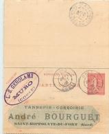 MURO  CARTE LETTRE L.S. GEROLAMI 1906 ENVOYEE A LA TANNERIE BOURGUET A ST HIPPOLYTE DU FORT - France