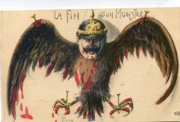 La fin d�un monstre - anti guillaume - aigle cruxifi� - casque � pointe - illustrateur Pierre