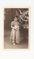Cp , ENFANT , Carte-photo , Fleurs , Demoiselle D'honneur , Vierge - Groupes D'enfants & Familles