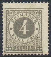 Sweden Suède Sverige: Facit 29b, 4ö Grey Ringtyp P.13, Fine Mint H (DCSV00189) - Neufs