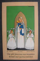 Années 1940 - IMAGE PIEUSE POUR ENFANT Illustration Par ANNE MARIE BOSSAERT Devotie Geboortekaartje HOLY CARD SANTIN - Images Religieuses