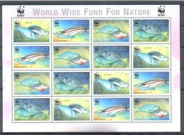 Nbx288MSb WWF FAUNA VISSEN PAPEGAAIVIS PARROTFISH FISH FISCHE POISSONS MARINE LIFE GRENADA GRENADINES 2001 PF/MNH - W.W.F.