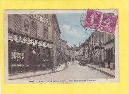 CPA - IS sur TILLE -  34119. Rue Dominique Ancemot  - Beau magasin ECONOMATS FRANCAIS N� 131 - panneau Citroen