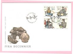 FASHION - LIFE STILE - HIPPIES - YOUTH CULTURE - SWEDEN SUEDE SCHWEDEN 1996 MI 1964-1967 FDC Motorbike - Kostüme
