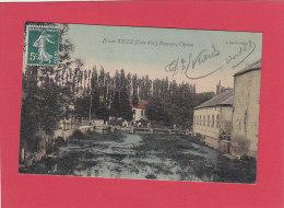 CPA - IS sur TILLE -  Paysage - l'Ignon  - carte toil�e couleur  - Bardet �diteur