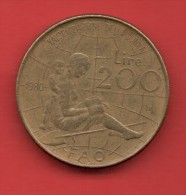 ITALIA - 200 Liras 1980  KM107  - FAO Año Internacional De La Mujer - Conmemorativas