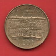 ITALIA - 200 Liras 1990  KM135  - Consejo De Estado - Conmemorativas