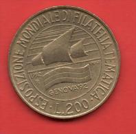 ITALIA - 200 Liras 1992  KM151  - Exposicion Filatelica - Conmemorativas