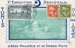 Tunis: Expo D'Aéro-Philatélie En 1932. - Tunisie