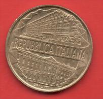 ITALIA - 200 Liras 1996  KM184  -  Centenario Academia - Conmemorativas