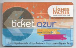 Ticket  Azur. (Voir commentaires)