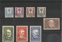 BELGIQUE Année 1953 N°Y/T : 930/937 Oblitérés Côte : 45 €
