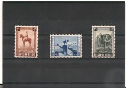 BELGIQUE Année 1954 N°Y/T : 938/940 Oblitérés Côte : 35 €