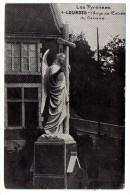 CP, 65, LOURDES, L'Ange De L'Entrée Du Calvaire, Voyagé En 1921 - Lourdes