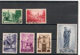 BELGIQUE Année 1954 N°Y/T : 946/951oblitérés Côte : 100,00 €