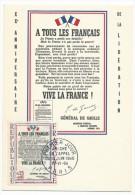 FRANCE - Carte Maximum - Affiche De L'Appel Du 18 Juin 1940 - Paris 1964 - 1960-69