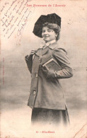 PHOTO BERGERET LES FEMMES DE L'AVENIR ETUDIANT CARTE PRECURSEUR CIRCULEE 1902 - Bergeret