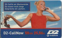 Telefonkarte.- Duitsland. D2-CallNow - 50 DM. - D2 Vodafone. V 17.2 750.000 01/01. D2-CallYa Am Wochenende. 2 Scans - GSM, Voorafbetaald & Herlaadbare Kaarten