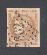 FRANCE EMISSION DE BORDEAUX Y&T N° 43A. OBLITERE TRES BON ETAT. COTE 80 EUROS. - 1870 Emission De Bordeaux