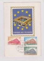 PREMIER JOUR     //   CONSEIL DE L EUROPE - Cartes-Maximum