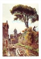 Roma Sparita / Roesler Franz / Vicolo Sterrato Ora Vicolo / Troupeau De Moutons Et Berger /  CP 68/5 - Paintings