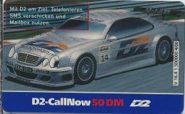 Telefonkarte.- Duitsland. D2-CallNow - 50 DM. - D2 - Mit D2 Am Ziel. 2 Scans - GSM, Voorafbetaald & Herlaadbare Kaarten