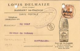 Ransart- Censure Charleroi / Carte Louis Delhaize - Trous De Classement - Guerre 14-18
