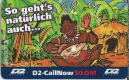 Telefonkarte.- Duitsland. D2-CallNow - 50 DM. - D2 - Privat. - So Geht's Natürlich Auch....2 Scans - GSM, Voorafbetaald & Herlaadbare Kaarten