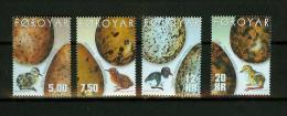 Far Oer 2002,4V,birds,vogels,vögel,eier,oiseaux,pajaros,,MNH/Postfrisch,E4202de - Zonder Classificatie