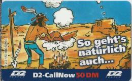 Telefonkarte.- Duitsland. D2-CallNow - 50 DM. - D2 - Privat. - So Geht's Natürlich Auch....2 Scans - Duitsland