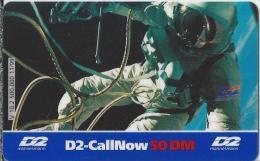 Telefonkarte.- Duitsland. D2-CallNow - 50 DM. - D2 - Mannesmann. Ruimtevaarder. 2 Scans - Duitsland