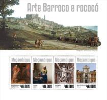 m14307a Mozambique 2014 Baroque and Rococo art s/s Horse Dog Rembrandt