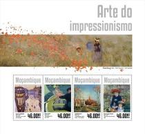 m14309a Mozambique 2014 Painting Impressionism art s/s  Pierre Auguste Renoir