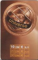 Telefonkarte.- Duitsland. Universe 10 DM.  € 5,11. 2 Scans - GSM, Voorafbetaald & Herlaadbare Kaarten
