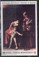 """PIA - SMOM - 1990 -  Maestri Della Pittura - Michelangelo Merisi Detto """"Il Caravaggio"""" -   (UN  340) - Malte (Ordre De)"""