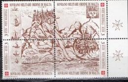 PIA - SMOM - 1990 : Antiche Fortezze Dell' Ordine.Fortezza Di Margat In Terra Santa  - (UN 338-39) - Malte (Ordre De)