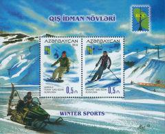 az1068 Azerbaijan 2014 RCC Winter Sport Skiing s/s