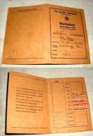 Markenkarte Deutsche Arbeitsfront 1938-1939, Gefaltet Ca. Postkartengroß - 1939-45