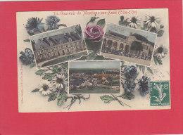 CPA -  Un Souvenir De  MONTIGNY Sur Aube  - Multivues  Dont Café De La Place  - Collection Sabarly - France