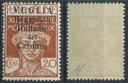 1920 VEGLIA CARATTERI PICCOLI 20 CENT MH * - ED1046 - 8. Besetzung 1. WK