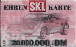 DE.- Telefonkarte.- Duitsland. Ehren SKL Karte. 20.000.000,-- DM. Porche Mit Kippefekt. Ehrenkarte.  Glöckle. 2 Scans - Duitsland