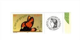 Timbre Personnalisé C´est Un Garçon YT 3635A Avec Logo Cérés Et GOMME MATE . Voir Le Scan . Cote Maury N° 21 : 7 € . - France