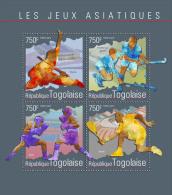 tg14603a Togo 2014 Asian Games s/s Wushu Hockey Boxing Tenni