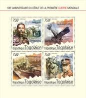 tg14610a Togo 2014 First World War WW1 s/s Airplane
