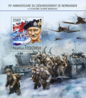 tg14611b Togo 2014 Second World War WW2 s/s Flag Airplane Ship