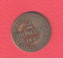 SAXE COBURG GOTHA //  2 GROSCHEN   1847    //  KM # 113    //  ETAT  B+ - Piccole Monete & Altre Suddivisioni