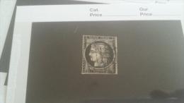 LOT 232484 TIMBRE DE FRANCE OBLITERE N�3 VALEUR 60 EUROS