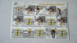 Le Tour De France A 100 Ans ( 1903 - 2003 ) Bloc De 10 Timbres à 0,50 Euros - Blocs & Feuillets