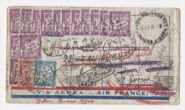 Spectaculaire taxation de lettre en provenance de Bueno AIres (voir scan et explications dans annonce)